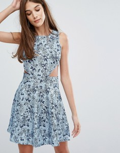 Платье из ткани шамбре Madam Rage - Синий