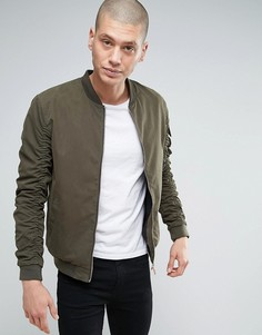 Куртка-пилот с присборенными рукавами Brave Soul - Зеленый