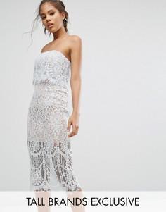 Кружевное платье-футляр бандо Jarlo Tall - Синий