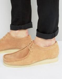 Замшевые ботинки Clarks Orginal Wallabee - Рыжий