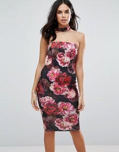 Платье миди с горловиной-чокер Jessica Wright - Черный