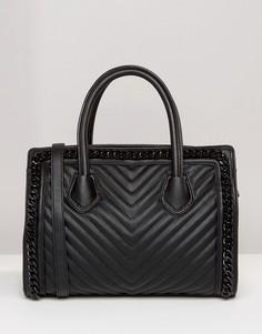 Стеганая сумка-тоут Aldo - Черный