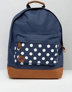 Рюкзак с карманом в горошек Mi Pac - Синий