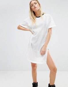Сетчатое платье-футболка Nicce London - Белый