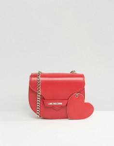 Сумка через плечо с сердцем Love Moschino - Красный