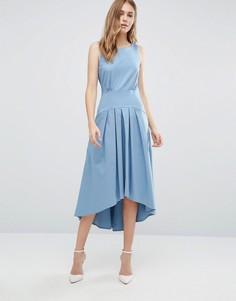 Платье с асимметричным подолом Closet - Синий