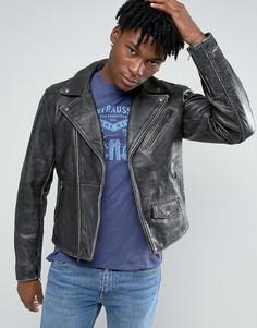 Кожаная байкерская куртка в винтажном стиле Levis - Черный Levis®
