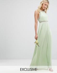 Декорированное платье макси TFNC WEDDING - Зеленый