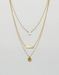 Многоярусное ожерелье Made Dainty - Золотой