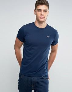 Темно-синяя футболка с логотипом Hollister Must Have - Темно-синий