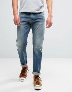Выбеленные джинсы цвета индиго Nudie Jeans Co Steady Eddie - Синий