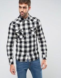 Рубашка в клетку Nudie Jeans Co Jonis - Черный