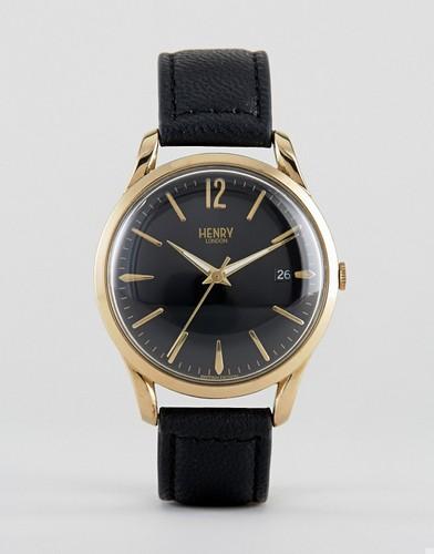 Часы с кожаным ремешком Henry London Westminster - Черный