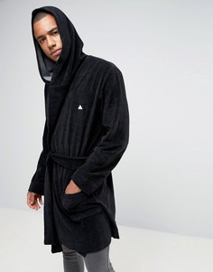 Махровый халат с логотипом ASOS - Черный