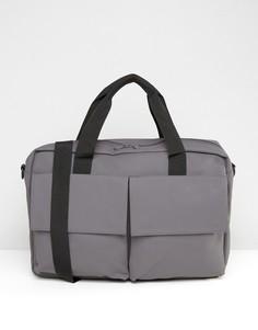 Серая сумка-портфель Rains Pace - Серый