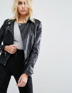 Байкерская куртка Barneys Originals - Черный