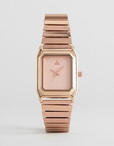 Прямоугольные часы на эластичном браслете ASOS - Медный