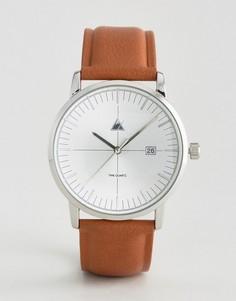 Часы со светло-коричневым ремешком и окошком с датой ASOS - Коричневый