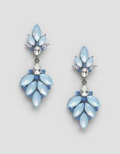 Серьги-подвески с камнями Nylon - Синий