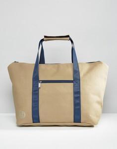 Парусиновая дорожная сумка бежевого цвета Mi-Pac - Stone