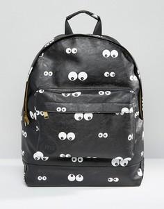 Черный рюкзак с принтом глаз Mi-Pac - Черный