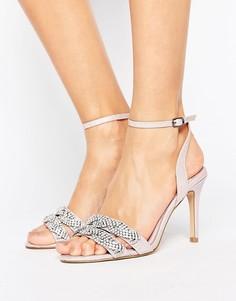 Декорированные сандалии на каблуке Faith - Розовый
