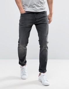 Черные выбеленные узкие джинсы стретч Only & Sons - Черный