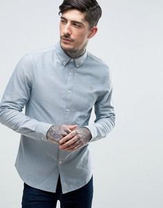 Узкая оксфордская рубашка Farah Brewer - Синий