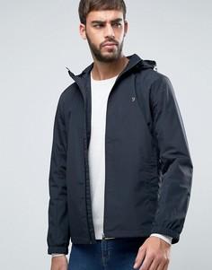 Черная куртка-дождевик с капюшоном Farah Newbern - Черный