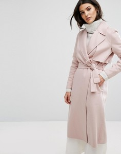 Строгое пальто Selected - Розовый