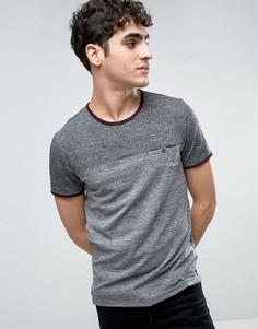 Меланжевая футболка со вставкой Ted Baker - Серый