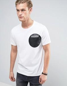 Белая футболка с принтом и карманом Converse 10003387-A02 - Белый