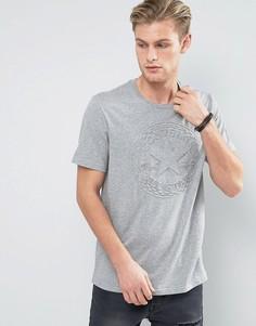 Серая футболка с тисненым логотипом Converse 10003650-A01 - Серый