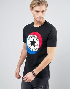 Черная футболка с логотипом Converse 10003901-A02 - Черный