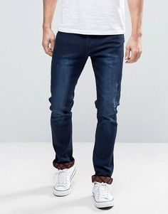 Узкие джинсы с вышитым кантом Liquor & Poker - Синий