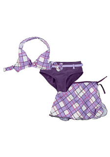 Комплект, 3 части: бикини и юбочка
