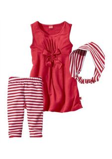 Комплект: платье, легинсы и лента для волос KIDOKI