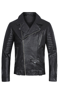 Мужская кожаная куртка-косуха Urban Fashion For Men