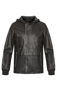 Кожаная куртка с капюшоном Urban Fashion For Men