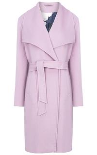 Полушерстяное пальто с поясом Elema