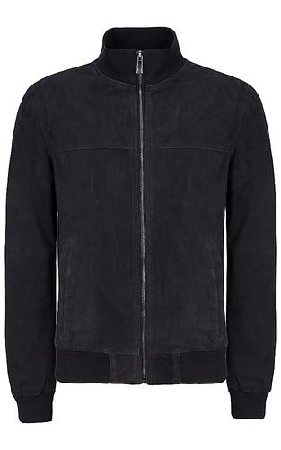 Куртка-бомбер из натуральной замши