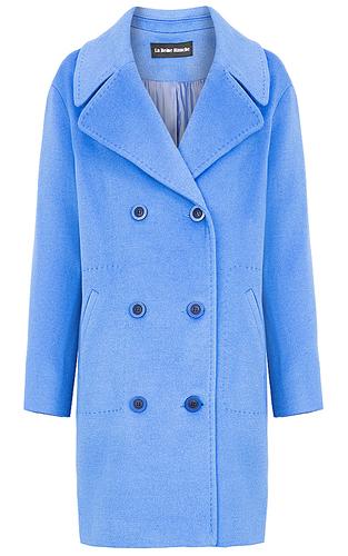 Полушерстяное двубортное пальто