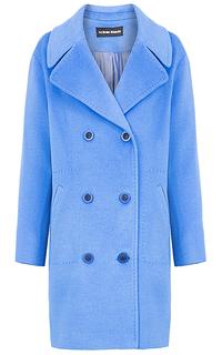 Полушерстяное двубортное пальто La Reine Blanche