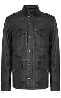 удлиненная кожаная куртка Jorg Weber