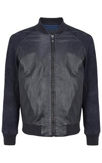Куртка-бомбер из натуральной кожи и замши Jorg Weber
