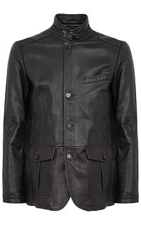 Кожаная куртка-пиджак Al Franco