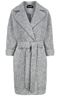 фактурное пальто с поясом La Reine Blanche