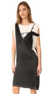 Платье-комбинация в стиле нижнего белья с накладным элементом R13