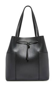 Объемная сумка-ведро с короткими ручками Block T Tory Burch
