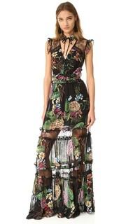 Макси-платье Dahlia с принтом и оборками Nicholas